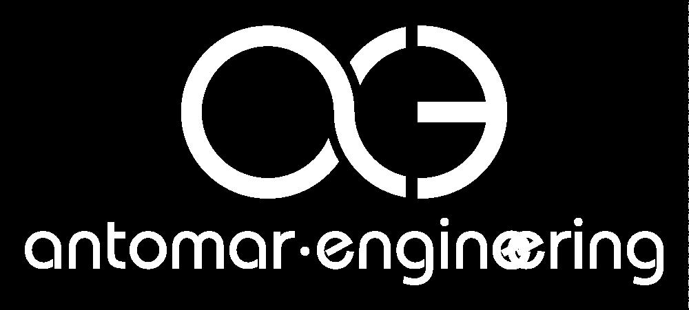 Antomar Engineering White Logo
